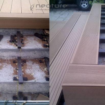 Instalacion tarima exterior madera f cil de mantener for Madera sintetica exterior