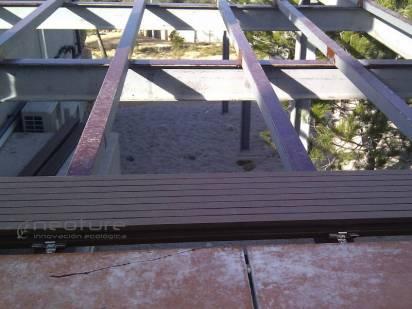 suelo tencologico sobre estructura metalica