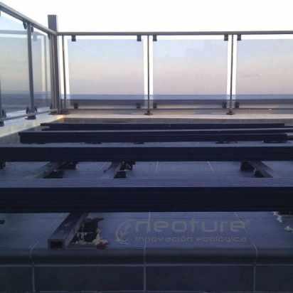 elevacion de tarima exterior composite