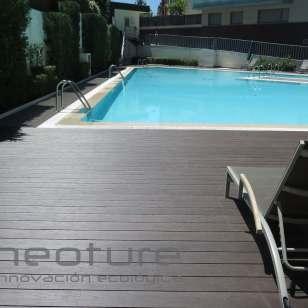 Tarima madera exterior composite piscina