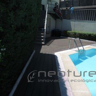 Tarima exterior composite piscina