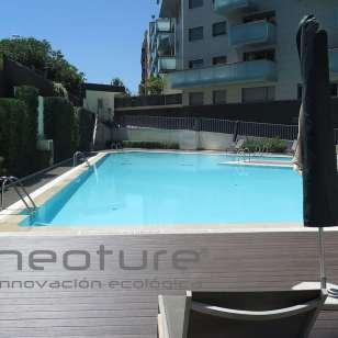 Tarima madera exterior piscina neocros iroko