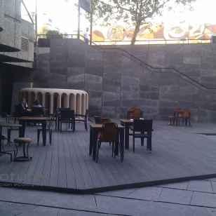 tarima restaurante terraza hotel en madera exterior