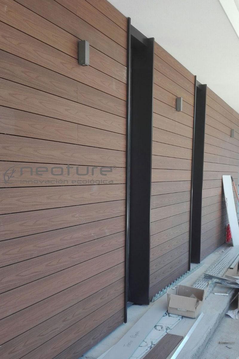Instalacion de revestimiento madera composite fachada neoture Revestimientos para fachadas