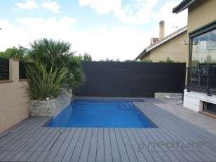 Vallado madera composite exterior delimitador terrazas
