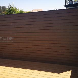 Vallado madera tecnológica exterior composite con efecto veteado