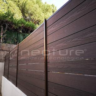 Vallas de jardin con madera composite