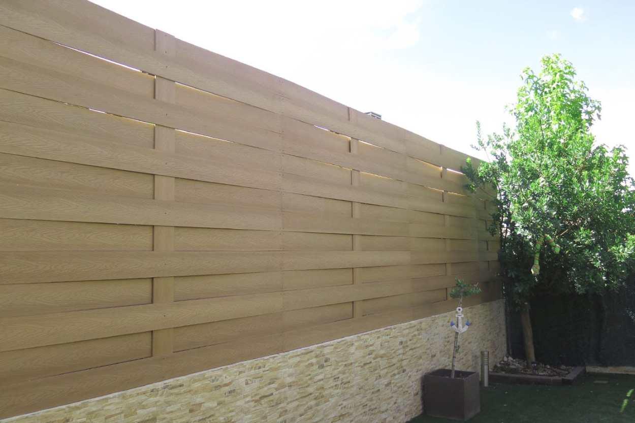 vallado madera tecnologica exterior trenzado