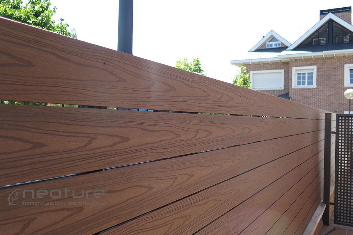 Vallado madera composite neoblock de f cil instalaci n - Valla de madera ...