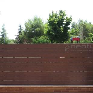 Vallado madera tecnologica exterior neocros ipe