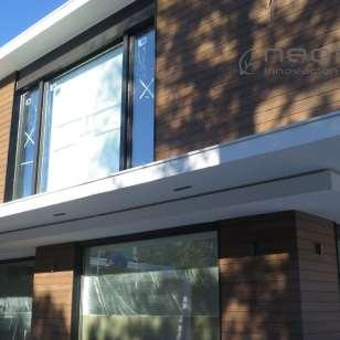 Panel revestimiento fachada en madera compsosite exterior sin mantenimiento.