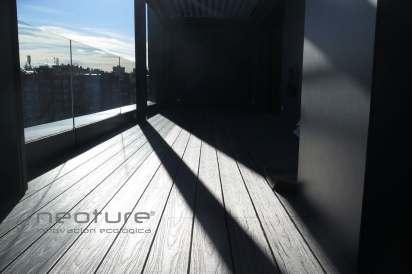 Tarima composite exterior balcon