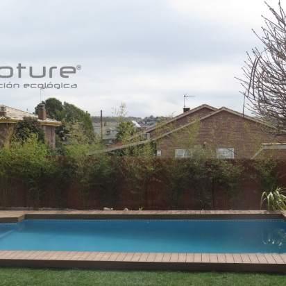 Tarima madera sintética exterior zonas de piscina