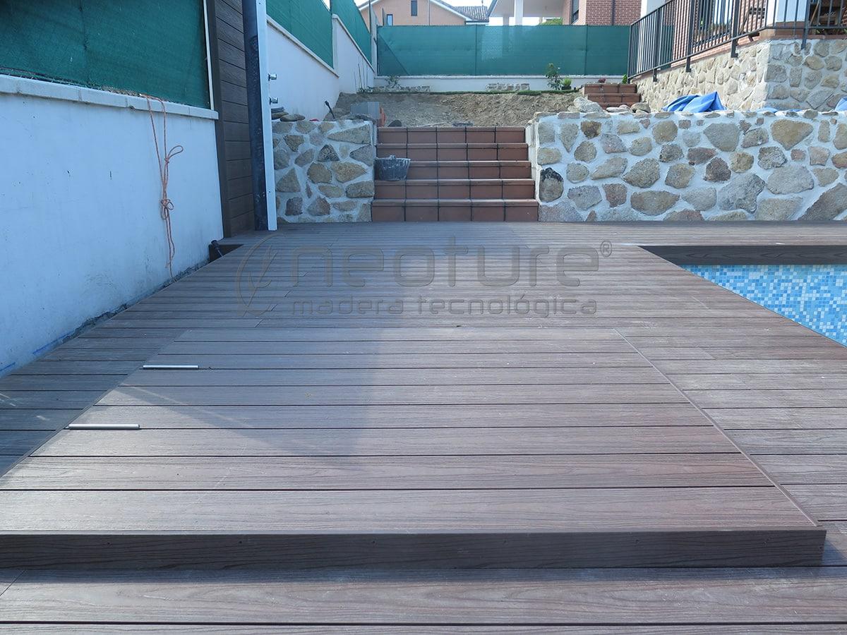suelo de composite imitación madera