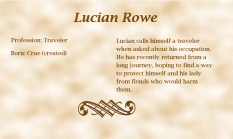Lucian Rowe biography