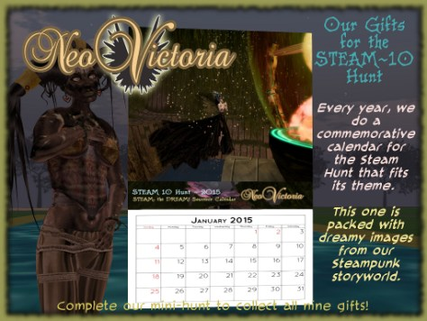 NeoVictoria Gifts for Steam 10: 2015 Calendar