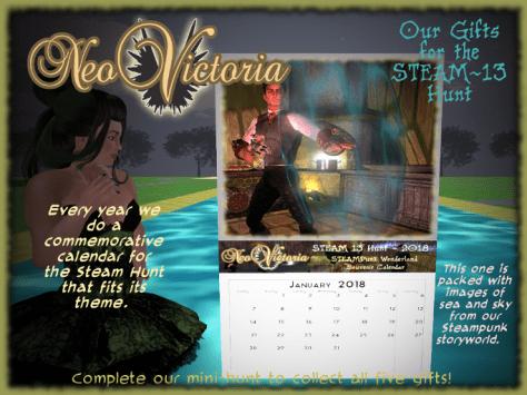 Steam 13 Calendar