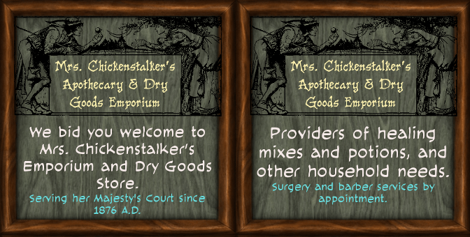 "For Fantasy Faire 2018, NeoVictoria Presents ""A Visit to Mrs. Chickenstalkers"""