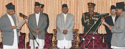Khil Raj Regmi sworn in PM