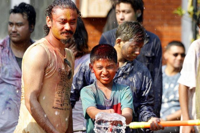 Namrata Shrestha Celebrating holi 2013 8