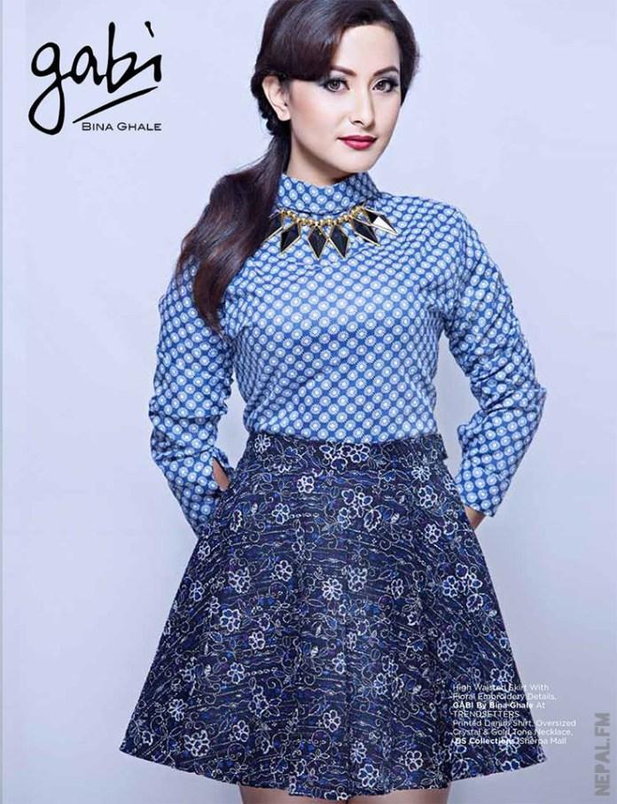 Namrata Shrestha Floral Skirt Gabi Navyaata