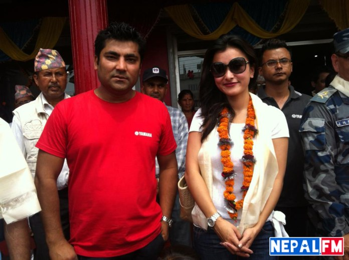 Namrata Shrestha and Sunil Rawal Yamaha Store Opening