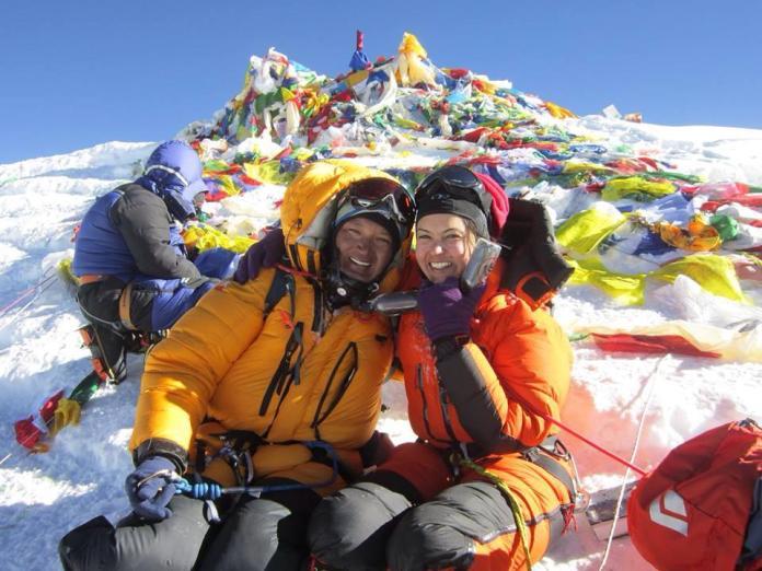 Nisha Adhikari as seen on top of the Mt. Everest