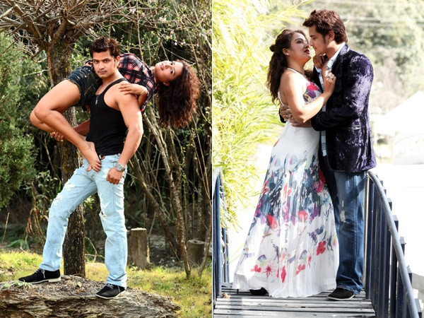 Sexy Rekha Thapa with Sabin Shrestha Hamesa Movie
