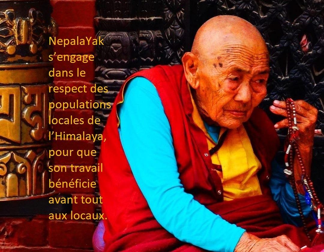 Valeurs de NepalaYak, respect des populations de l'Himalaya