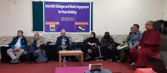 Joint efforts by the interfaith leaders and the media for peace building