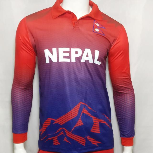 Nepal Cricket Jersey Full Sleeve