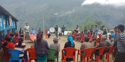 Community meeting about NCDF program Kalinchok