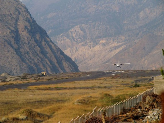 Agni Plane Landing at Jomsom Airport in Nepal