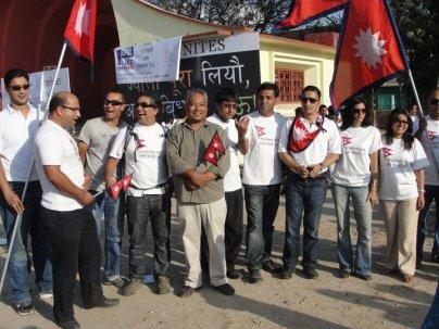 Anil Chitrakar at Nepal Unites Event