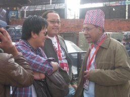 Dinesh Dc and Raju Lama at Bryan Adams Concert in Nepal