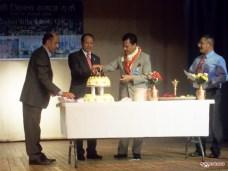 Suresh Chandra Chalise and Executive members celebrating anniversary