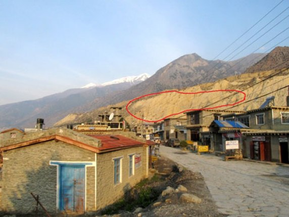 Jomsom Location where Agni Nepal Plane Crashed