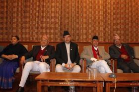 KP Oli Minister Nepal CPN UML Meeting Leaders