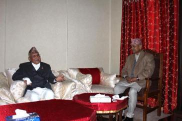 KP Oli Minister Nepal CPN UML With President Ram Baran Yadav