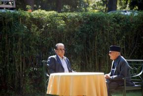KP Oli Minister Nepal CPN UML with Prachanda