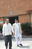 KP Oli Minister with Prachanda Nepal
