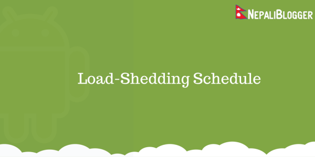 Load Shedding Schedule Nepal