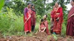 Nagma filming of her Eco-Beauty video project in Nepal