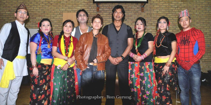Rajesh Hamal Celebrating New Year 2070 UK