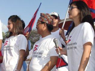 Sambriddhi Rai and Zenisha Moktan at Nepal Unites