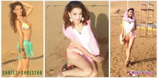 Shristi Shrestha Beach Body in Miss World 2012