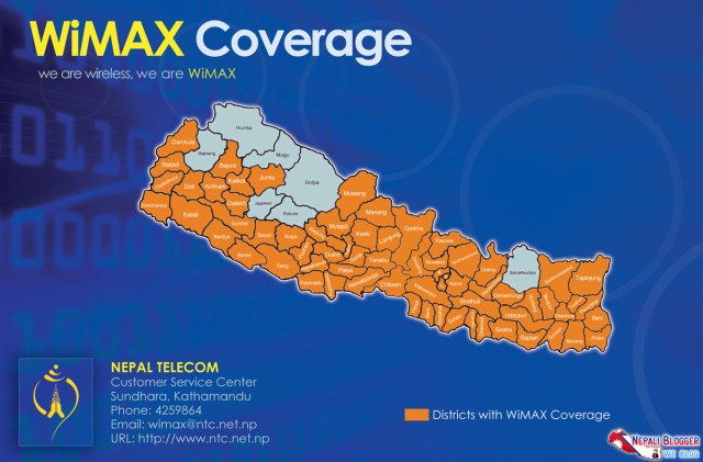 Wimax Coverage of Nepal Telecom in Nepal