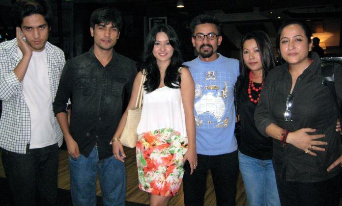 Namrata Shrestha attending Public Maun Screening