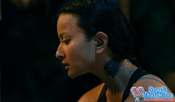 Namrata Shrestha tattoo in Chhadke Nepali Movie