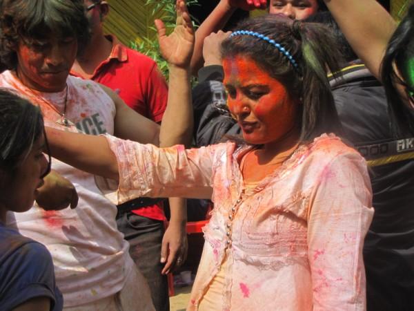 Rekha Thapa Playing Holi 2011 12